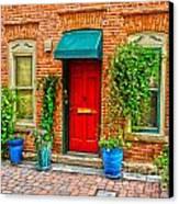 Red Door Canvas Print by Baywest Imaging