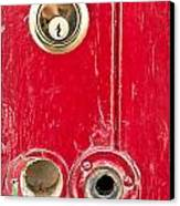 Red Door Lock Canvas Print by Tom Gowanlock