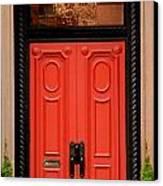 Red Door On New York City Brownstone Canvas Print