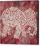 Red Elephant Canvas Print