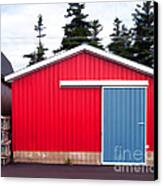 Red Fishing Shack Pei Canvas Print by Edward Fielding