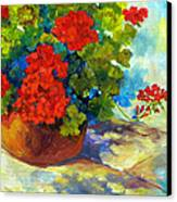 Red Geraniums I Canvas Print