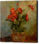 sold Red Gerberas Canvas Print