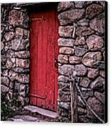 Red Grist Mill Door Canvas Print