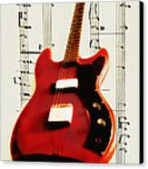 Red Guitar Canvas Print by Bill Cannon