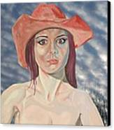 Red Hat Girl  Canvas Print by Roger Medcalf