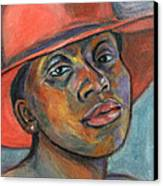 Red Hat Lady Canvas Print by Xueling Zou