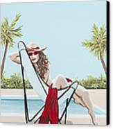 Red Hot Canvas Print by Nickie Bradley