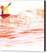 Red Hot Surfer Canvas Print