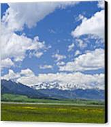 Red Lodge Spring Scene 1 Canvas Print by Roger Snyder