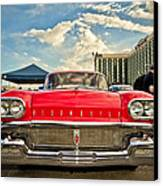 Red Oldsmobile  Canvas Print by Merrick Imagery