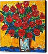 Red Passion Roses Canvas Print by Ana Maria Edulescu