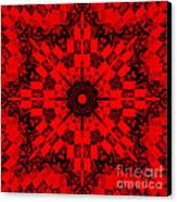 Red Patchwork Art Canvas Print by Barbara Griffin