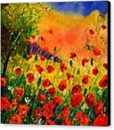 Red Poppies 45 Canvas Print by Pol Ledent