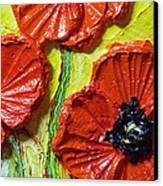 Red Poppies II Canvas Print by Paris Wyatt Llanso