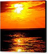 Red Rage Of Dusk Canvas Print by Q's House of Art ArtandFinePhotography