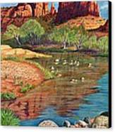 Red Rock Crossing-sedona Canvas Print by Marilyn Smith