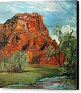 Red Rock Canvas Print by Jolyn Kuhn