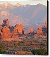Red Rocks In Arches National Park Canvas Print by Diane Mitchell