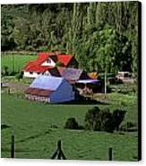 Red Roofed Barn Chiloe Island Canvas Print by Craig Lovell