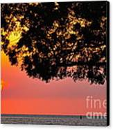 Red Sea Sunset Canvas Print by George Paris