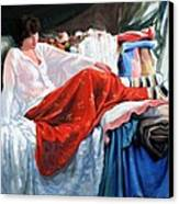 Red Skirt Canvas Print by Kevin Lawrence Leveque
