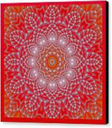 Red Space Flower Canvas Print by Hanza Turgul