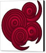 Red Spirals Canvas Print