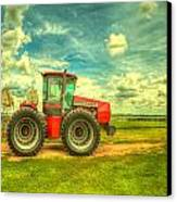 Red Tractor Farm Canvas Print by  Caleb McGinn