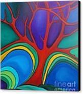 Red Tree Canvas Print by Deborah Glasgow