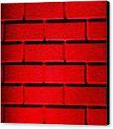 Red Wall Canvas Print by Semmick Photo
