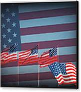 Red White And Blue Canvas Print by Kay Novy