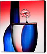 Red White And Blue Reflections And Refractions Canvas Print by Susan Candelario