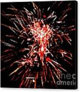 Red White Canvas Print by Shelia Kempf