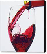 Red Wine Being Poured  Canvas Print