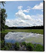 Redtail Lake At Steigerwald Natinal Wildlife Refuge Canvas Print by Lizbeth Bostrom