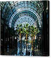 Reflecting On Palm Trees And Arches Canvas Print by Georgia Mizuleva