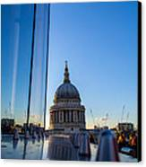 Reflecting St Pauls Canvas Print by Andrew Lalchan