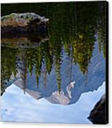 Reflection Of Longs Peak Canvas Print