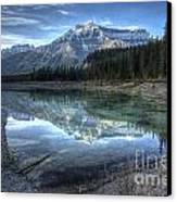 Reflection Of Mount Amery At Graveyard Flats Canvas Print by Brian Stamm
