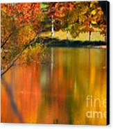 Reflection  Of My Thoughts  Autumn  Reflections Canvas Print by Peggy  Franz