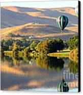 Reflection Of Prosser Hills Canvas Print by Carol Groenen