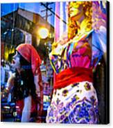Reflections In The Life Of A Mannequin Canvas Print