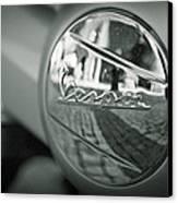 Reflections Of Vespa Canvas Print by Tony Santo