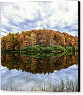 Reflections On Boley Lake Wv Canvas Print by Dick Wood