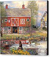 Reflections On Country Living Canvas Print by Chuck Pinson