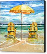 Relaxing At The Beach Canvas Print by Chris Dreher