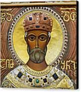 Religious Art Inside The Tsminda Sameba Cathedral Canvas Print by Robert Preston