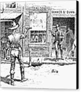 Remington: Duel Canvas Print