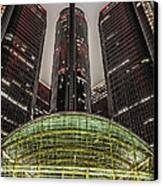Renaissance Center Detroit Michigan Canvas Print by Nicholas  Grunas